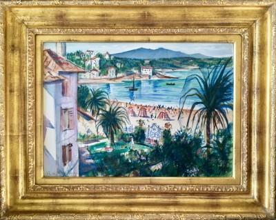 C. R. W. Nevinson (1889-1946)La Corniche, nr. Marseille, 1920's