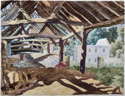 Ethelbert White (1891-1972)Betty in the Old Hay Barn, c. 1930