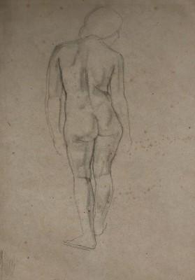 Percy Horton (1897-1970)Standing Female Nude, c. 1920s