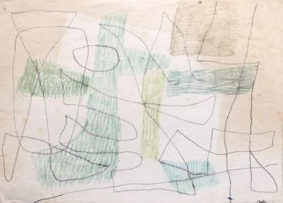 Carlos Carnero (1922-1980)Composition lyrique (vert), 1959