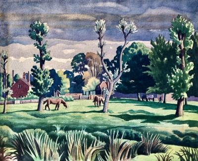 Ethelbert White (1891-1972)Summer Landscape, Surrey, c. 1928