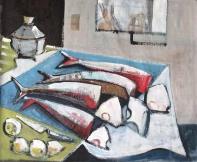 Klara Koitler (b. 1954)Still Life with Red Fish