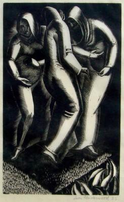 Leon Underwood (1890-1975)Three Peasants, 1925