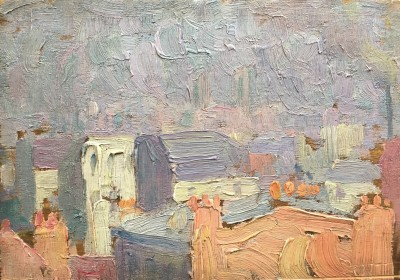 Henri-Edmond Cross (1856-1910)Paris Rooftops, c. 1893