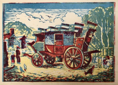 Ethelbert White (1891-1972)The Lynton Coach, c. 1945