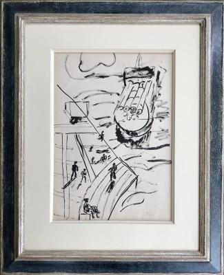 Fernand Léger (1881-1955)La peniche, etude pour 'mes voyages', c. 1940s