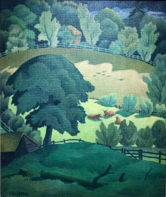 Ethelbert White (1891-1972)Somerset Landscape, 1919