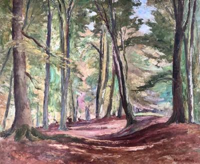 Ethelbert White (1891-1972)Woodland with Deer, c. 1937