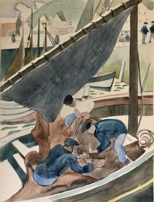 Doris Hatt (1890-1969)Fishermen, Honfleur, 1931