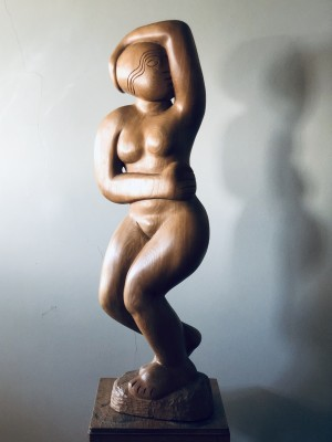 Simon Manby (b. 1942)Standing Nude with Arm Raised