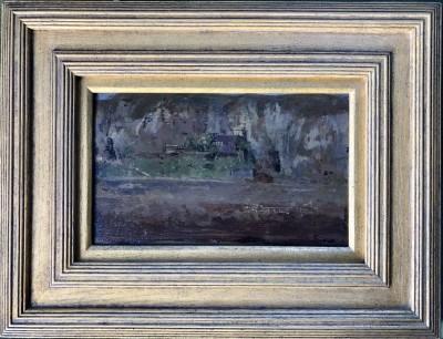 Walter Sickert (1860-1942)Les Falaises du Pollet et l'Atelier du Pientre Haquette (Esquisse), Dieppe, 1885