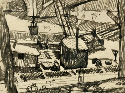 Ethelbert White (1891-1972)Barges on the Seine, c. 1912