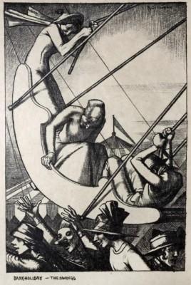 Randolph Schwabe (1885-1948)Bank Holiday: The Swings, 1915