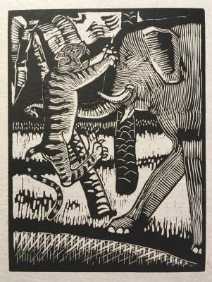 Rupert Lee (1887-1959)Two Cats, c. 1920