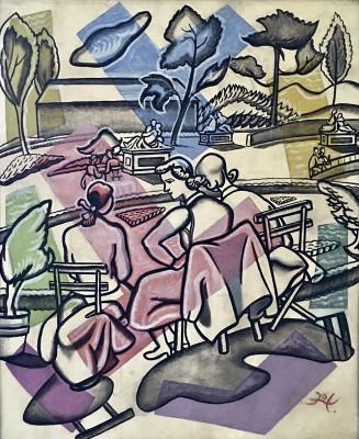 Doris Hatt (1890-1969)Lunch Break, Tuileries Gardens, Paris, c. 1955