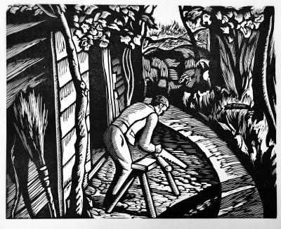 Ethelbert White (1891-1972)Sawing Logs, 1926