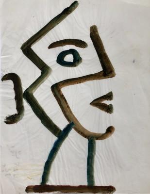 Carlos Carnero (1922-1980)Tête cubiste de profil, c. 1958