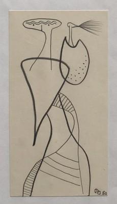 Desmond Morris (b. 1928)Surrealist composition, 1950