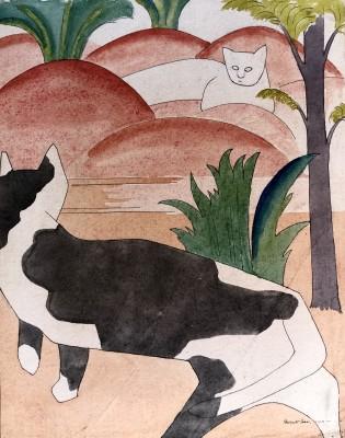 Rupert Lee (1887-1959)Two Cats, 1919