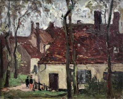 Richard Hayley Lever (1875-1958)Brittany Village, c. 1900