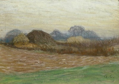 Sir George Clausen (1852-1944)The Hay Ricks, c. 1900