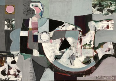Klara Koitler (b. 1954)Reclining Figure with Pink Moon, 2006