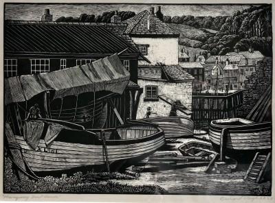 Bernard Sleigh (1872-1954)Mevagissey Boat House, 1936