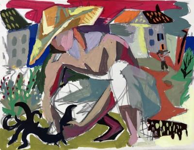 Albert Prat (1927-2009)Farm Worker, c. 1950