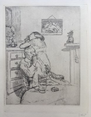 Walter Sickert (1860-1942)Ennui (The Medium Plate) Fourth state , 1914/15