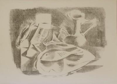 Kenneth Lauder (1916-2004)Fish Still Life, 1955