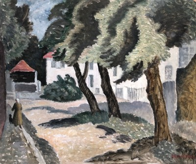 Ethelbert White (1891-1972)Figure and Dog, Mallorca, c. 1933