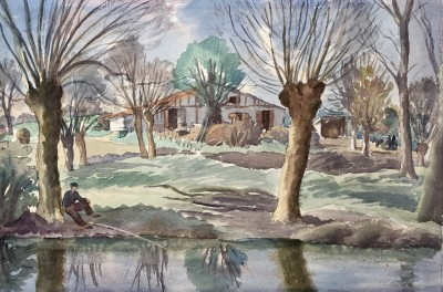 Ethelbert White (1891-1972)Pollard Willows, Dax, South of France, 1924