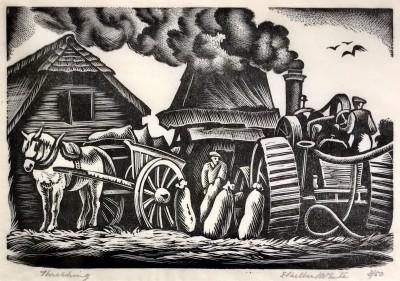 Ethelbert White (1891-1972)Threshing, 1938