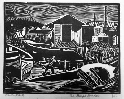 Ethelbert White (1891-1972)Barge Breakers, Bayonne, c. 1924