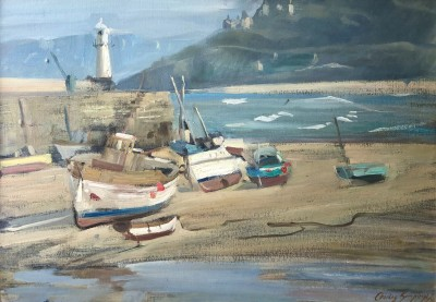 Charles Simpson (1885-1971)Low Tide, St Ives Harbour
