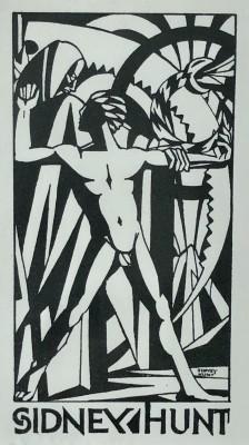 Sidney Hunt (1896-1940)Bookplate Design, c. 1923