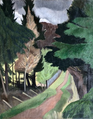 John Nash (1893-1977)Pathway, Whiteleaf Woods, 1922/3