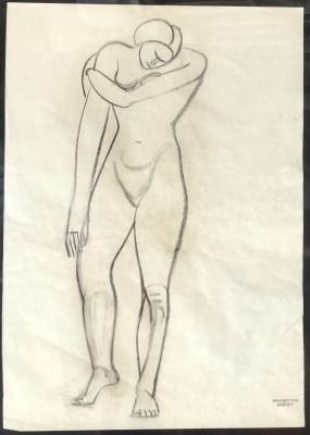 Viola Gertrude Harvey (1875-1954)Cubist Nude Study, c. 1928