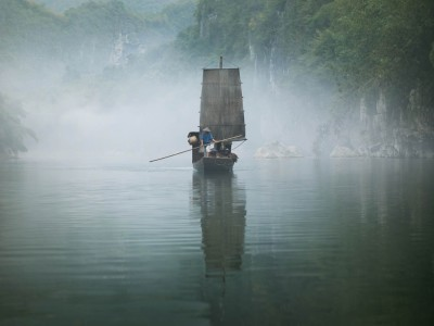 harmony and transition - reflecting chinese landscapes