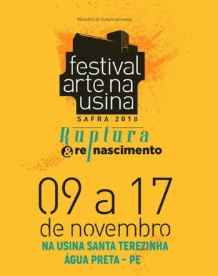 festival arte na usina - safra 2018