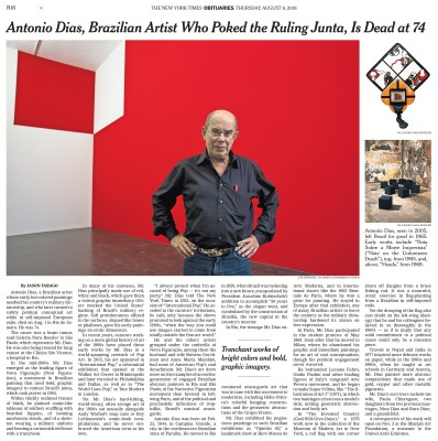 antonio dias, brazilian artist who poked the ruling junta, is dead at 74
