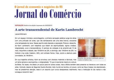 a arte transcendental de Karin Lambrecht