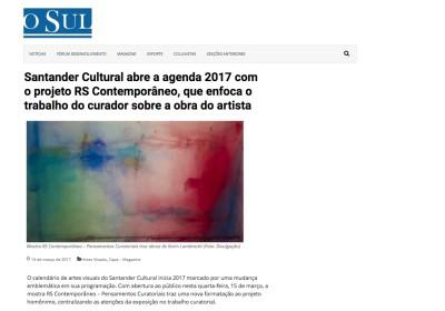 santander cultural abre a agenda 2017 com o projeto rs contemporâneo que enfoca o trabalho do curador