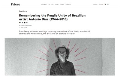 remembering the fragile unity of brazilian artist antonio dias (1944–2018)