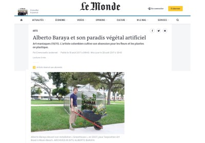 alberto baraya et son paradis végétal artificiel