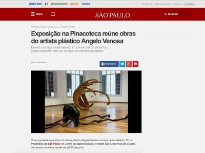 exposição na pinacoteca reúne obras do artista plástico angelo venosa