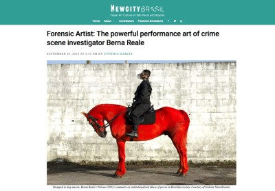 forensic artist: the powerful performance art of crime scene investigator berna reale