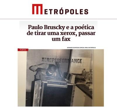 paulo bruscky e a poética de tirar uma xerox, passar um fax