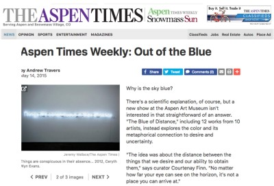 aspen times weekly: out of the blue