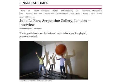 julio le parc, serpentine gallery, london - interview